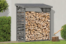 Kaminholzregal grau für 2,3 m³ Holz Holzunterstand Brennholzregal KDI