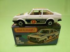 MATCHBOX SUPERFAST - NO= 9  FORD RS 2000  - NEAR MINT IN ORIGINAL BOX