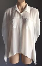 DOTTI Sheer Kimono Sleeve Shirt/Blouse Ivory Size 8