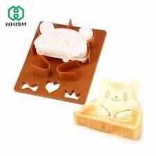 NEW Panda Bear Frog POP UP Toast Bread Sandwich Mold Cutter Stamp x3 Set