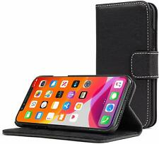 Snugg iPhone 11 Wallet Case – Leather Card Case Wallet Blackest Black