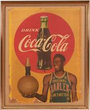 Rare! Circa 1952 Goose Tatum, Harlem Globetrotters, Coca-Cola Cardboard Sign