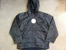 M&S MAC IN A PAC NAVY BLUE JACKET WITH HOOD & ZIP- AGE 9-10y - BNWT