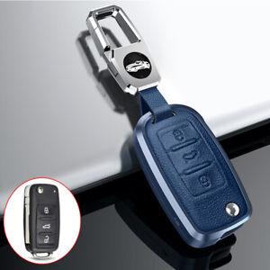 Flip Remote Key Case Cover Fob For Volkswagen Jetta Golf Passat For Skoda Blue