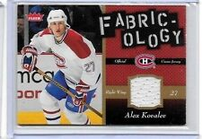 ALEX KOVALEV 2006-07 FLEER FABRIC-OLOGY GAME USED  JERSEY ~ MONTREAL
