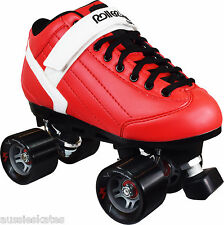 Roller Derby Stomp Factor 5 Mens Ladies Quad Fashion Roller Skates RED US Size 9