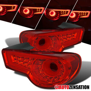 For 2013-2016 Scion FR-S Subaru BRZ Red Tail Lights LED DRL Sequential Signal