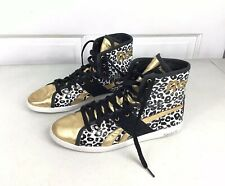 REEBOK Leopard Hi Top Sneakers Shoes Womens 10