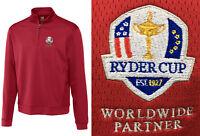 Cutter & Buck Edge 1/4 Zip Pullover - SMALL OR MEDIUM Ryder Cup Logo - RRP£60