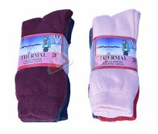 New 6 pack Ladies Women's Winter Warm Brushed Thermal Boot Walking Socks