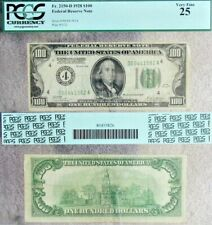 1928 Series $100.00 Federal Reserve Note PCGS #80455826 VF 25