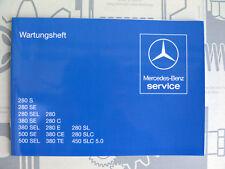 Mercedes Serviceheft / Wartungsheft W126 W123 R107 Modelle 1. Serie NOS!