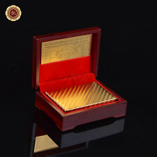24k Gold Plated Playing Cards with Certificate Of Authenticity&Box Mosaic Back