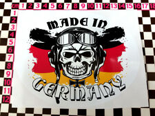 Made in Germany Oval Skull Sticker- German Classic Car 2002 1602 BMW E30 E23