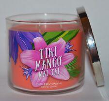 NEW BATH & BODY WORKS TIKI MANGO MAI TAI SCENTED CANDLE 3 WICK 14.5 OZ LARGE