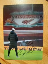 More details for jurgen klopp liverpool fc manager superb hand signed autographed official photo