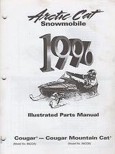 1996 Arctic Cat Snowmobile Cougar Mountain Cat Parts Manual P/N 2255-329 (709)