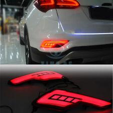 For Hyundai Santa Fe 2016-17 Rear Bumper Lights LH+RH Red light Assembly Refit