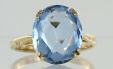 9ct Yellow Gold Swiss Blue Topaz Dress Ring Hallmarked approx 2ct REF2316
