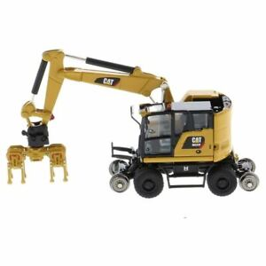HO 1:87 Diecast Masters 85656 Cat M323F Railroad Wheeled Excavator - In CAT Yell