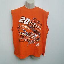 Nascar Mens Shirt XL Tony Stewart 20 Home Depot Orange Sleeveless Muscle