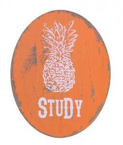 Splosh FIESTA Pineapple Orange Study Home Office Door Wall Plaque Sign Gift