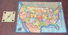 Vintage, COAST TO COAST USA MAP, Jigsaw Puzzle / Game (Dated 1933)