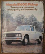 MAZDA B1600 PICK-UP orig 1973 UK Mkt Large Format Sales Brochure