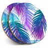 2 x Coasters - Pink Purple Palm Leaves Surf Tropical Home Gift #16975
