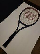 Wilson Titanium Women's Hope Tennis Racquet Blue, Breast Cancer 4 3/8 L3 Grip