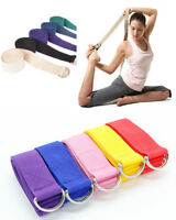 185cm Yoga Stretch Strap D-Ring Belt Gym Waist Leg Fitness Adjustable Band US