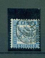 Baden, Wappen im Quadrat Nr. 19 gestempelt