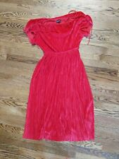 EXPRESS RED OFF THE SHOULDER DRESS SIZE SMALL S TIE DETAILS EUC worn once!