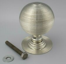 110mm Very Large Polished Nickel Beehive Centre Door Knob Pull Front Handle