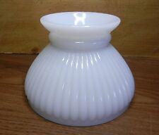 """4-1/8""""x 5-7/8""""Small Vintage White Ribbed Shade for Oil Electric Lamp or Sconce"""