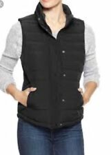 GAP Women's Warmest Quilted Vest Black Size XL  Vest Jacket 298222