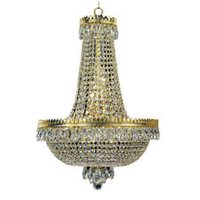 French Empire Gold Crystal Chandelier Lustre  Modern Chrome Chandeliers Light