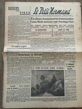 Journal Original Le Petit Normand 22 Août 1944