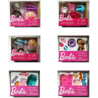 Barbie Doll Accessory Mini Playset Toy- You Choose Style - Puppy Cooking or Spa