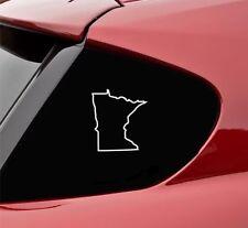 Minnesota MN state outline vinyl decal sticker bumper funny