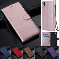 Flip Leather Card Wallet Stand Cover Case For Sony Z3 Z5 XA2 XZ2 XZ1 L1 L2 XA3