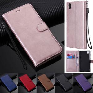 For Sony 5 1 10 XA1 XA2 XZ2 XZ1 L1 L2 L3 Z5 Book Wallet Leather Flip Cover Case