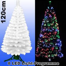 LED Weihnachtsbaum WEISS 120 cm Tannenbaum farbwechselnde Glasfaser Fiberoptik