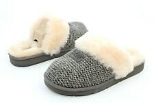 UGG COZY KNIT CHARCOAL COLOR KNIT SHEEPSKIN WOMEN'S SLIPPERS SIZE 9 US