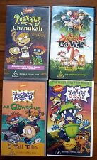 RUGRATS VHS VIDEOS x 4 Nickelodeon Rare Chanukah, Go Wild, The Movie, All Growed