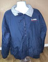 PORT AUTHORITY Men's Size XXL 2XL Navy Blue Zip Up Jacket Cost Nylon Shell
