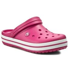 Crocs Size 12 Raspberry White Clogs New Mens Shoes