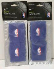 NIKE Elite Wristbands Dri Fit NBA Mavericks Blue Color Wristbands ** NEW **
