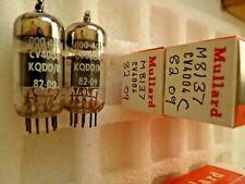 CV4004 M8137 ECC83 Mullard 82 09 Platinum Matched Pair C NOS Valve Tube F19