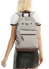 Pusheen The Facebook Cat Character Face Canvas Backpack School Book Bag